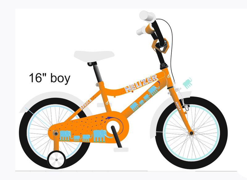 BMX 16 fiú narancs/fehér-