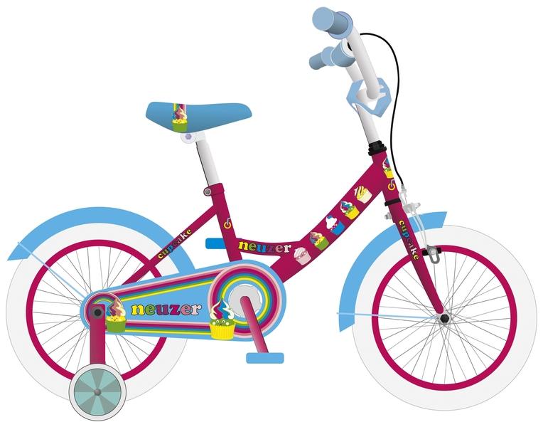 BMX 16 lány pink/cián-cupcake