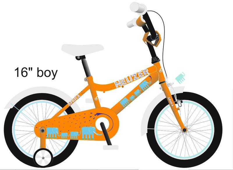 BMX 12 fiú narancs/fehér-