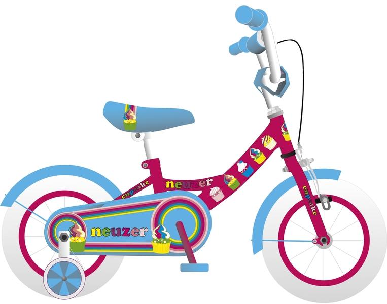 BMX 12 lány pink/cián-cupcake