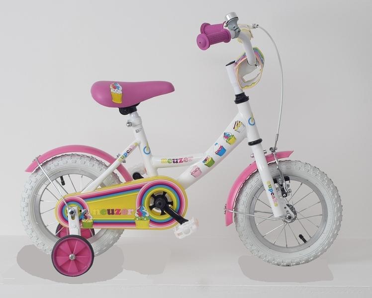 BMX 12 lány fehér/pink-
