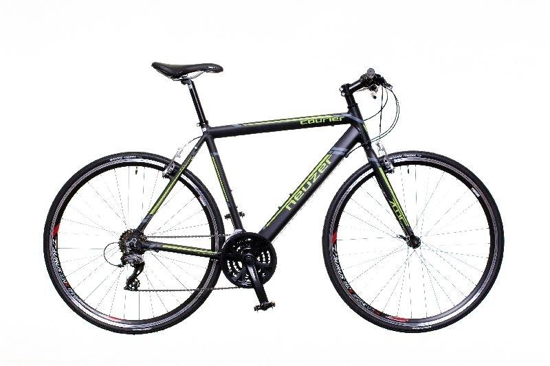 Courier fekete/zöld-szürke 54 cm