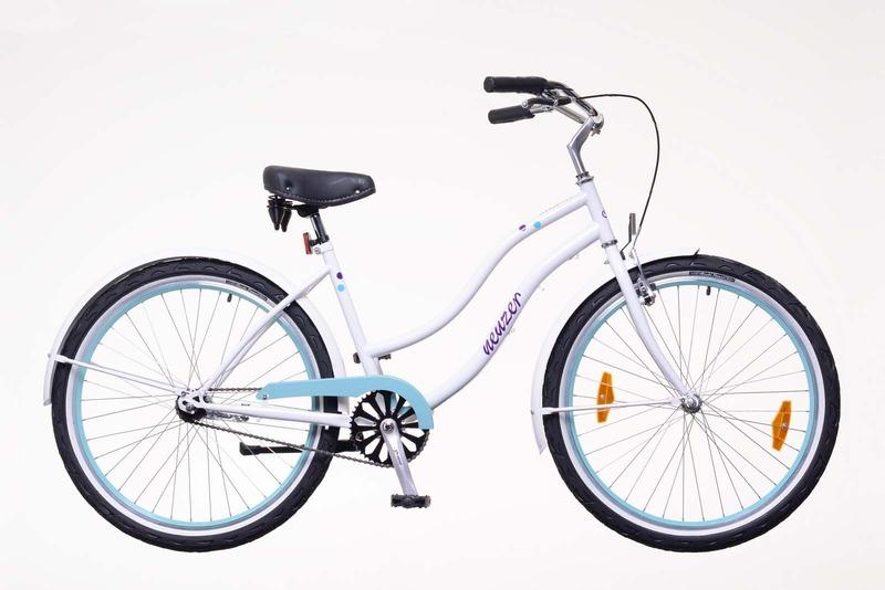 Sunset női fehér/pöttyös   kerékpár