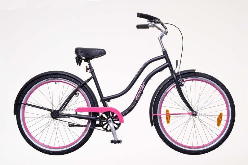 Sunset női matt fekete/magenta   kerékpár