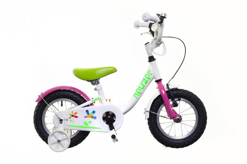 BMX 12 lány white/pink-green