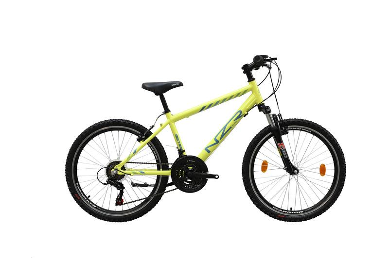 Mistral 24 fiú neonsárga/kék   gyerek kerékpár
