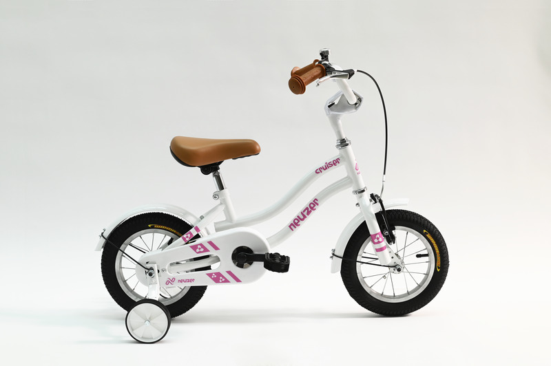 Cruiser 12 lány fehér/ rózsaszín  gyerek kerékpár