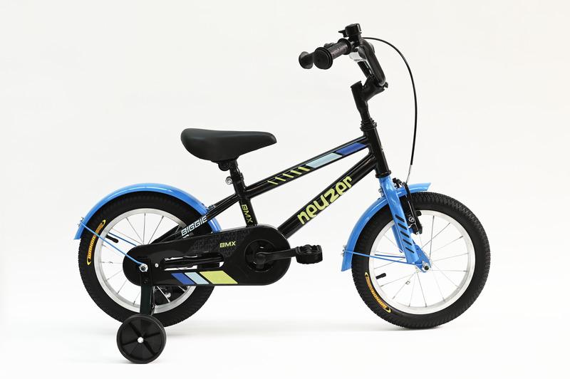 BMX 14 fiú fekete/sárga-kék   gyerek kerékpár